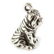 Sharpei Dog 3D Sterling Silver Charms